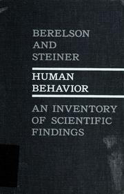 Cover of: Human behavior