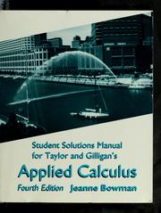 Cover of: Student solutions manual for Taylor and Gilligan