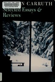 Cover of: Selected essays and reviews | Hayden Carruth