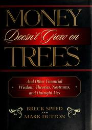 Cover of: Money doesn't grow on trees