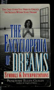Cover of: The encyclopedia of dreams