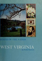 Cover of: West Virginia. | Felix Sutton
