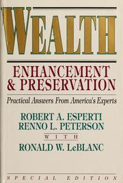 Cover of: Wealth enhancement & preservation