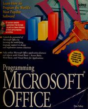 Cover of: Programming Microsoft Office | Don Schuy