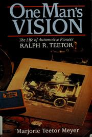 Cover of: One man's vision