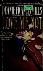Cover of: Love Me Not