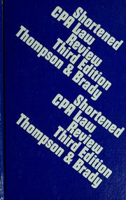 Cover of: Shortened CPA law review | George C. Thompson