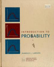 Cover of: Introduction to probability | Harold J. Larson
