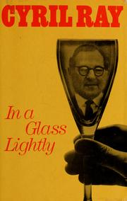 Cover of: In a glass lightly. | Cyril Ray