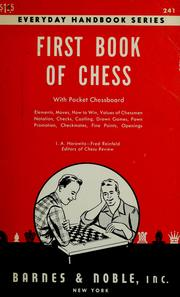 Cover of: First book of chess