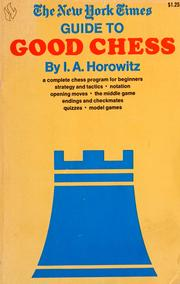 Cover of: The New York times guide to good chess