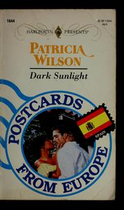 Cover of: Dark Sunlight (Postcards From Europe)