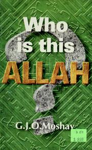 Cover of: Who Is This Allah?
