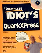 Cover of: The complete idiot's guide to QuarkXPress | Ted Alspach