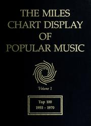 Cover of: The Miles chart display of popular music | Betty T. Miles