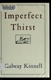 Cover of: Imperfect thirst