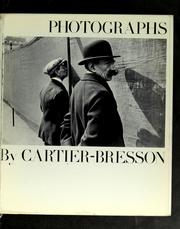 Cover of: Photographs