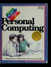Cover of: The first book of personal computing