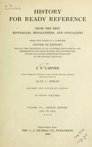 Cover of: History for ready reference from the best historians, biographers, and specialists | Josephus Nelson Larned