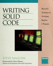 Writing solid code by Steve Maguire