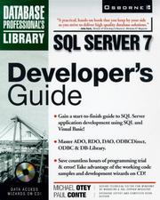 Cover of: SQL server 7 developer's guide