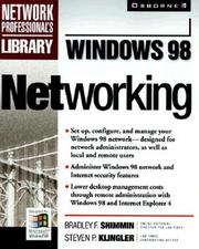 Cover of: Windows 98 networking