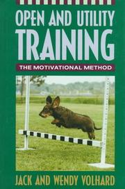Cover of: Open and Utility Training | Jack Volhard