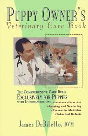 Cover of: The puppy owner's veterinary care book