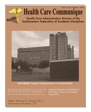 Cover of: Health Care Communique by Warren H. Chaney, Ph.D.