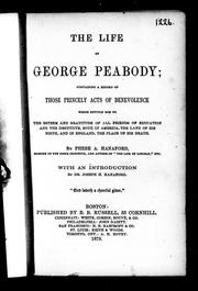 Cover of: The life of George Peabody | Phebe A. Hanaford
