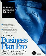 Cover of: Tim Berry