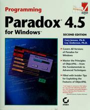 Cover of: Programming Paradox 4.5 for Windows