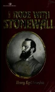 Cover of: I rode with Stonewall