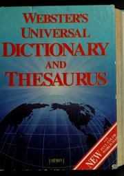 Cover of: Webster's universal dictionary and thesaurus