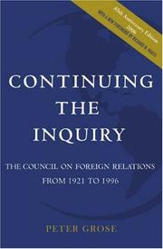 Cover of: Continuing the inquiry | Peter Grose