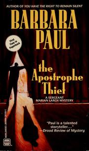 Cover of: The Apostrophe Thief