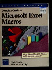Cover of: Complete guide to Microsoft Excel macros | Chris Kinata