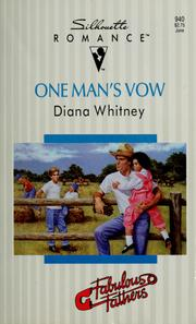 Cover of: One Man's Vow