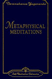 Cover of: Metaphysical Meditations | Paramahansa Yogananda