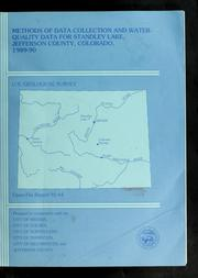 Cover of: Methods of data collection and water-quality data for Standley Lake, Jefferson County, Colorado, 1989-90 by Barbara C Ruddy