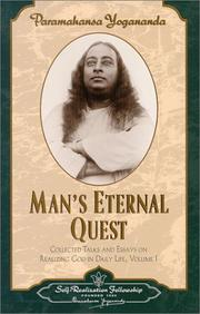 Cover of: Man's Eternal Quest