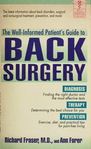 Cover of: The well-informed patient's guide to back surgery