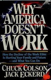 Cover of: Why America doesn't work