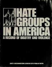 Cover of: Hate groups in America | B