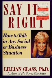 Cover of: Say it-- right
