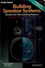 Cover of: Building speaker systems