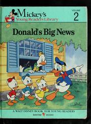 Cover of: Donald's big news/ story by Mary Packard | Mary Packard