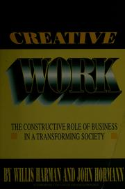 Cover of: Creative Work