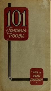 Cover of: One hundred and one famous poems, with a prose supplement by Roy Jay Cook