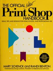 Cover of: The official New Print shop handbook | Mary Schenck